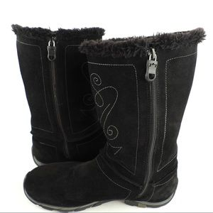 Kamik sz 10 Delancy waterproof black suede boots